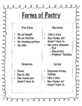 my 4th grade poetry notebook by bethany jennings tpt. Black Bedroom Furniture Sets. Home Design Ideas