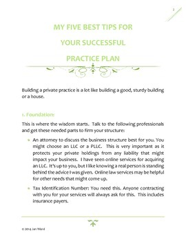 My 5 Best Tips for Private Practice