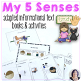Five Senses Adapted Science Books for Speech Therapy Autism AAC Users