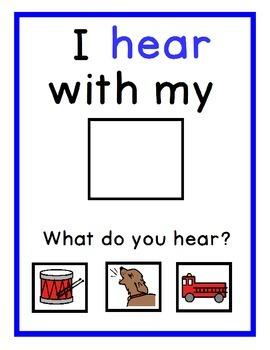 My 5 Senses...An Interactive Emergent Reader with Boardmaker Symbols