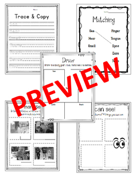 My 5 Senses - CC Reading List, Worksheets and Activities Packet,
