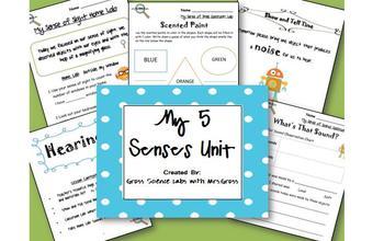 My 5 Senses {Classroom & Take-Home Labs}
