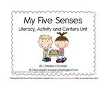 My 5 Senses Literacy Unit: Common Core, vocabulary + more