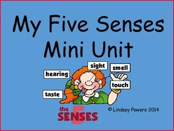My 5 Senses Mini Unit