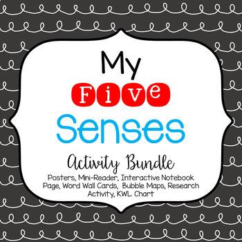 My 5 Senses Posters & Activity Bundle
