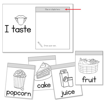 The 5 Senses for Little Learners Flip Books and Worksheet