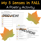 My 5 Senses in Fall: A Poetry Activity