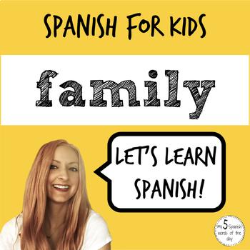 Spanish Family Vocabulary | Elementary Spanish