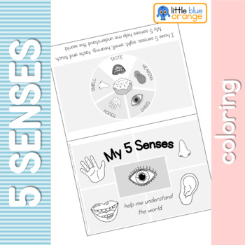 My 5 senses coloring booklet