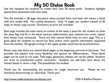 My 50 States Book