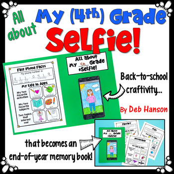 Back to School Selfie Craftivity that becomes a Memory Book