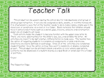Writing Activities Pre-School