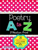 My A to Z Poetry Notebook {D'Nealian Print}