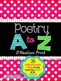 My A to Z Poetry Notebook {D'Nealian Print}