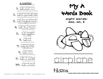 My A words Book