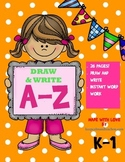 My ABC Book / Draw & Write The Alphabet Workbook (a-z letter activities)