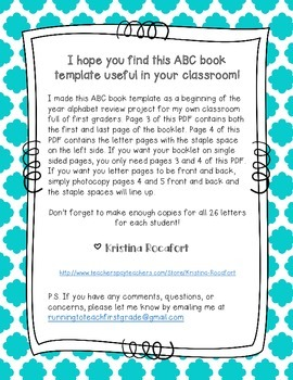 My ABC Book Printable Template