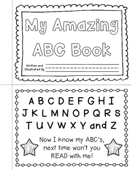 picture about Abc Book Printable named My ABC Reserve Printable Template