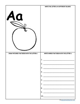 My ABC Book / Recognize, Print, and Draw The Alphabet  (a-z letter activities)