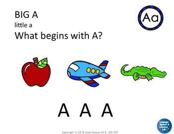 My ABC Book, Repetitive Book of Beginning Sounds, No Print - Teletherapy