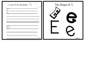 My ABC Book: The Letter E