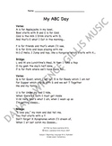My ABC Day Companion Lyrics Sheet