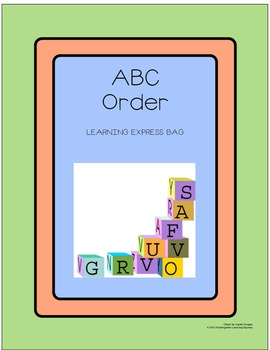 My ABC Order Learning Express Bags