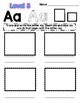 My ABC Pictionary - Differentiated Student Template