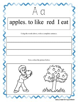 My ABC Sentences!