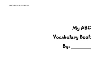 My ABC Vocabulary Book
