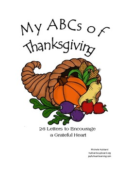 My ABCs of Thanksgiving