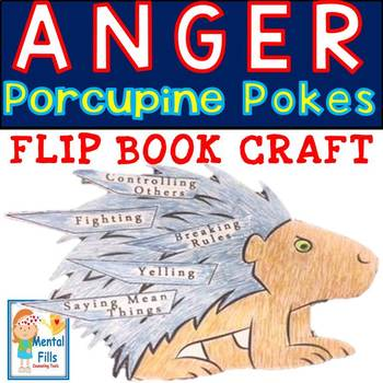 My ANGER Porcupine Pokes: Flip Book Art Craft