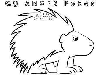 My ANGER Porcupine Pokes: Flip Book Art Craft
