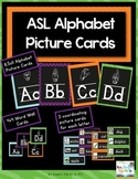 My ASL Classroom A-Z Picture and Word Wall Cards (Black)