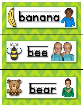 My ASL Classroom  Alphabet Picture Cards and Signs PRIMARY