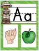 My ASL Classroom  Alphabet Picture Cards and Signs SAFARI