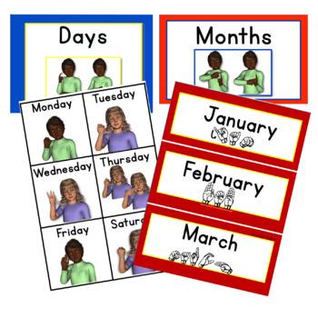 My ASL Classroom  Calendar PRIMARY