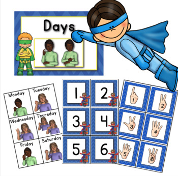 My American Sign Language SUPERHERO Calendar