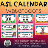 My ASL Watercolor  Calendar