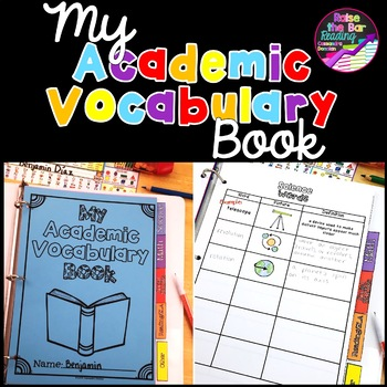 """My Academic Vocabulary (or """"School Words"""") Book for Content Area Vocabulary"""