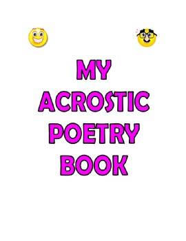 My Acrostic Poetry Book