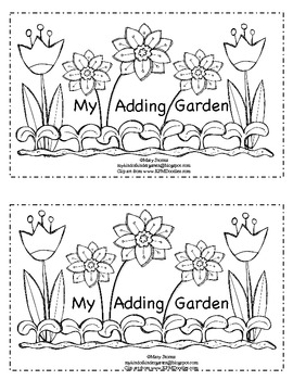 My Adding Garden-math emergent reader for Kindergarten