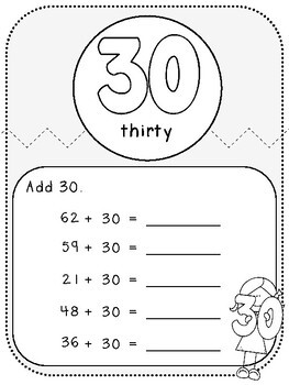 My Adding Multiples of 10 Book-Student Pages (First Grade, 1.NBT.4)