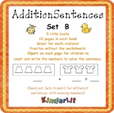 Kindergarten Addition -  Set B