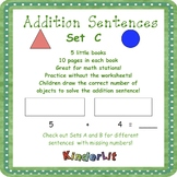 Kindergarten Addition - Set C