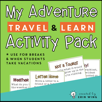 My Adventure Travel and Learn Activity Pack