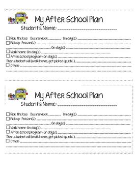 My After School Plan