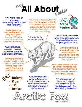 My All About Arctic Fox Book - (Arctic/Polar Animals)