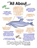 My All About Dolphins Book / Workbook - Ocean Animal Unit Study