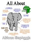 My All About Elephants Book / Workbook - African Animal Un